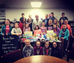 NMS Students Donate Supplies