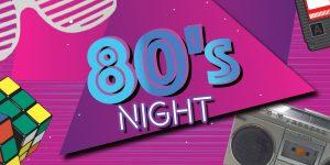 80s Night Banner