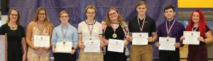 NHS students receiving seal of biliteracy awards