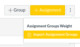 Import Assignment Groups button