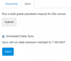 Scheduled Daily Sync checkbox